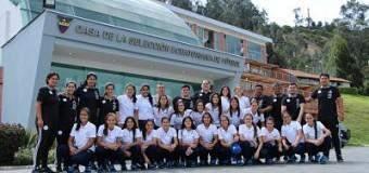 Albirroja femenina Sub 20 se instaló en Riobamba