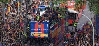 Triplete de Messi, doblete del Barza campeón