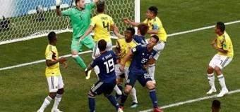 Colombia con uno menos no pudo con Japón